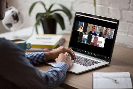team thuiswerken video meeting