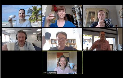 team thuiswerken - virtuele koffie